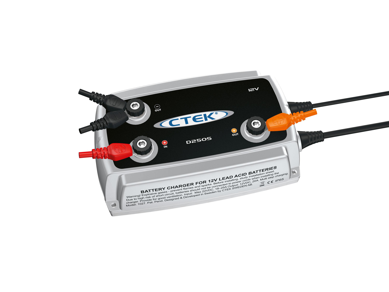 ctek acculader ctek d250s dual batterijlader scheider. Black Bedroom Furniture Sets. Home Design Ideas